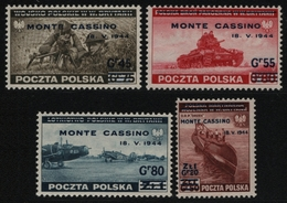 Polen 1944 - Mi-Nr. 376-379 ** - MNH - Monte Cassino - 1944-.... République