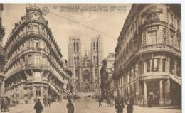 Brussel - Bruxelles - La Rue Et L'Eglise Ste Gudule - 93 Albert - Phototypie - Monuments, édifices