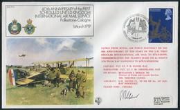 1978 GB RAF FF1A Royal Air Force Signed BFPS Cover. Folkestone - Cologne Air Mail Service - 1952-.... (Elizabeth II)