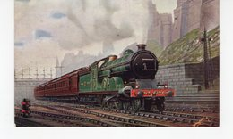 LES LOCOMOTIVES  (Royaume-Uni) N.E. RLY EAST COAST DINING CAR EXPRESS LEAVING EDINBURGH. - Eisenbahnen