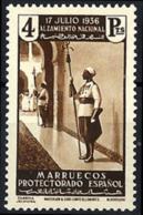 Marruecos Español Nº 183 Con Charnela - Marruecos Español
