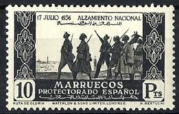 Marruecos Español Nº 184 Con Charnela - Marruecos Español