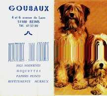Petit Calendrier 1991   -     CHIENS      Goubaux  Reims - Calendriers
