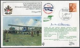 1979 GB RAF FF7 Royal Air Force Signed BFPS Cover.British Airways, London - Paris France - 1952-.... (Elizabeth II)