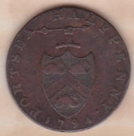 Halfpenny Token 1794, Portsea ,Hampshire, Navire - Monnaies Régionales