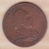 Halfpenny Token 1794 Pitt Lord Warden Cinque Ports , Cinque Port Token Payable At Dover - Monnaies Régionales