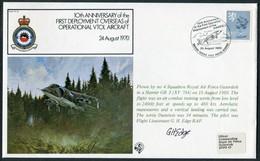 1980 GB RAF FF15 Royal Air Force Signed BFPS Cover. Harrier VTOL RAF Gutersloh BFPO 47 - 1952-.... (Elizabeth II)