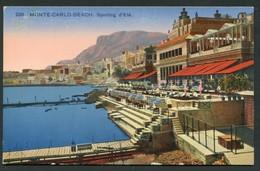 MONTE CARLO - BEACH -  SPORTING D'ETE - Monte-Carlo