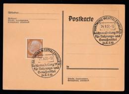 Deutsches Reich Postkarte Ungelaufen Sonderstempel 1937 Dortmung Westfalenhalle Lot 130D - Deutschland