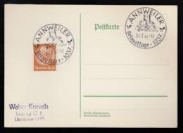 Deutsches Reich Postkarte Ungelaufen Sonderstempel 1937 Annweiler Lot 161D - Deutschland