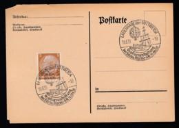 Deutsches Reich Postkarte Ungelaufen Sonderstempel 1938 Lauenhaisn über Mittweida Lot 347D - Deutschland