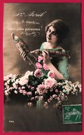 Fantaisie - Femme Avec Bandeau - 1er Avril - A Vous Mes Jolis Poissons - Fleurs - Roses - Femmes - 425 - 1er Avril - Poisson D'avril