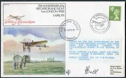 1981 GB RAF FF29 Royal Air Force Signed BFPS Cover. RAF HENDON , London - Paris Orly - 1952-.... (Elizabeth II)