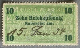 Erinnofilia - Germania 1934 - Marca Fiscale 10 Pfenning - Francobolli