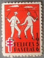 Erinnofilia - Spagna 1956 - Felices Pascuas - Pro Tubercolosi - Francobolli