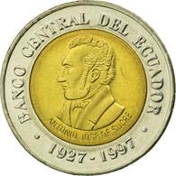 Monnaie, Équateur, 70th Anniversary - Central Bank1997, 100 Sucres, 1997, TTB - Ecuador