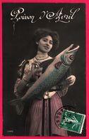 Fantaisie - Femme En Robe - Poisson D'Avril - Femmes - 1911 - 1er Avril - Poisson D'avril