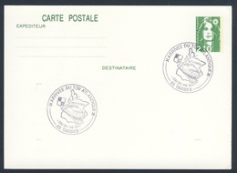 France Rep. Française 1990 Card / Karte / Carte - Arrivee TGV Atlantique, Tarbes / Hochgeschwindigkeitszug, Wappen - Treinen