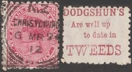 Nouvelle-Zélande 1894. Timbre Publicitaire, Superbe Qualité. Nathaniel Dodgshun, Importateur De Laine, Spécialiste Tweed - Textile