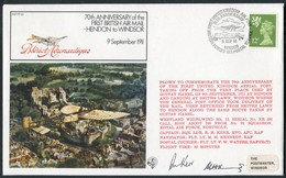 1981 GB RAF FF33 Royal Air Force Signed BFPS Cover. Hendon - Windsor 1911 Flight - 1952-.... (Elisabeth II.)
