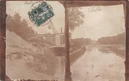 77 - Chelles - Carte Photo Rare - 2 Clichés Sur La Marne - Chelles