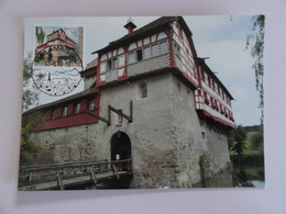 CARTE MAXIMUM CARD CHATEAU DE HAGENWILL SUISSE - Maximumkaarten