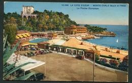 MONTE CARLO - BEACH ET L'HOTEL - LA PISCINE OLYMPIQUE - Monte-Carlo
