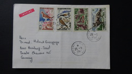 St.Pierre Et Miquelon - 1963/64 - Mi:PM 399-400 Yt:PM 365-6 + Mi:PM 408-9 Yt:PM 372-3 On Envelope - Look Scan - Lettres & Documents