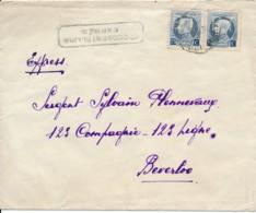 2 X 213 Montenez - Perfin BT - Per Expres Van Gent 15 IX 1927 Naar Beverloo - Leopoldsburg Kamp 16 IX 1927 - 1909-34