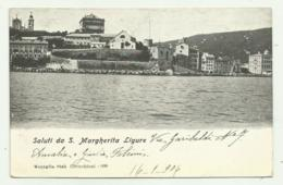 SALUTI DA S.MARGHERITA LIGURE 1906  VIAGGIATA FP - Genova (Genua)