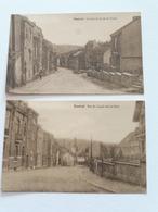 ENSIVAL - 2 Cartes :Le Haut De La Rue Du Canal Et Rue Du Canal Vers La Gare - Verviers