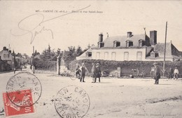 Cande  ( 49  Maine Et Loire )  Place Et Rue Saint Jean - France