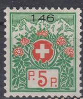 SUISSE TAXE 1927 : Le 5 C. Papier Blanc, Neuf * - Portomarken