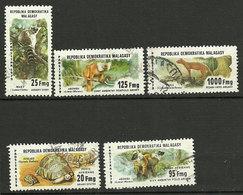 Madagascar - 1979 - Faune - Série Complète N° 627 à 629 + PA N° 177 Et 178 - Oblitéré - Scimmie