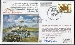 1981 Belgium RAF FF32 Signed Flight Cover.  Bleriot Brussel Wittering - Airmail