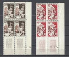 FRANCE  YT  Coins Datés  N° 972-974  Neuf **  1954 - Coins Datés
