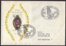 AE209    FDC Bund, BRD, Mi.-Nr. 912. Block 13, Ersttagsbrief Weihnachten 1976 - FDC: Buste