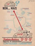 Bruxelles Autolux Taxi Siège Social Actuel Molenbeek / Publicité Vers 1950 RARE - Transports