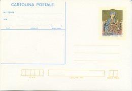 ITALIA - INTERO POSTALE 1984 - NATALE - ARTE - MADONNA DEL CIMABUE - 6. 1946-.. Repubblica