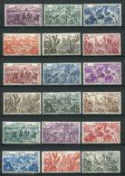 11062 GRANDE SERIE COLONIALE : Série Tchad Au Rhin **  1946  B/TB/TTB - France (ex-colonies & Protectorats)