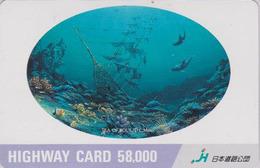 Carte Japon - ANIMAL PEINTURE MILLER - DAUPHIN CALMAR - DOLPHIN ** SEA OF SOUL ** Japan Card - HW 320 - Dolphins