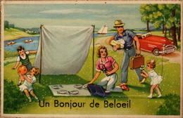 Un Bonjour De BELOEIL - Carte Avec Dépliant - Beloeil