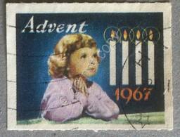 Erinnofilia 1967 - Advent - Avvento - Usato Used - Chiudilettera - Cinderella - Francobolli