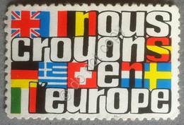 Erinnofilia Francia - Nous Crayons En L'Europe - Noi Crediamo Nell'Europa - Francobolli