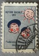 Erinnofilia Francia 1957 - Action Sociale - Chiudilettera - Cinderella - Vignett - Francobolli