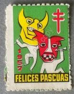 Erinnofilia - Spagna 1957 - Felices Pascuas - Pro Tubercolosi - Francobolli