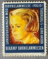 Danimarca -Erinnofilia Chiudilettera Cinderella - Børnelammelse (Polio) - Francobolli