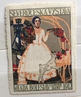 ESPOSIZIONE DELLA BOEMIA DEL NORD DEL 1912 A MLADÁ BOLESLAV - MUSEO MLADOBOLESLAVSKA - MLADÁ BO  ETICHETTA PUBBLICITARIA - Francobolli