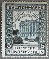 Erinnofilia Austria Österreich - Reklamemarke Blinden-verein - Bausteinmarke - Francobolli