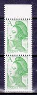 N° 2423 Type Liberté Avec Lettre A: Une Paire De 2 Timbres Neuf Impeccable - Unused Stamps